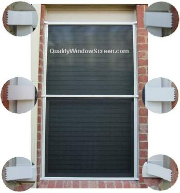 Larger Solar Window Screen with Six Brick Clips