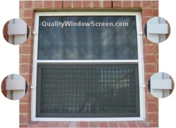 Small Solar Window Screen with Two Brick Clips