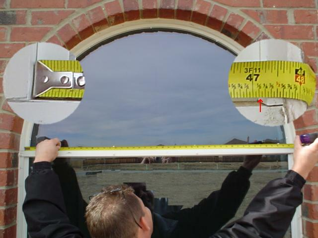 Measure Half Circle Arch Width for Solar Screens