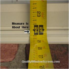 Measure Bottom Window Screen Lip
