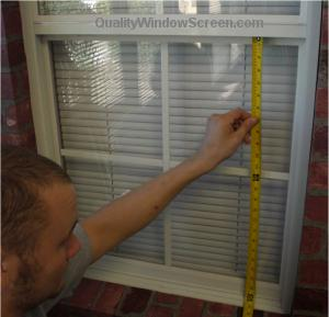 Measuring Window Screen Height