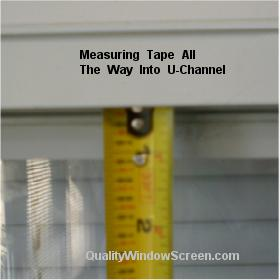 Measure Top Insect Screen Channel