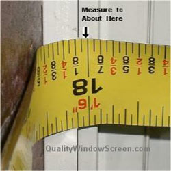 Measure Left Insect Screen Channel