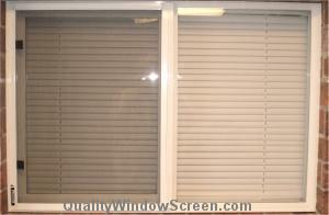 Typical Horizontal Slider Half Window Screen