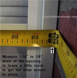 Measure Right Solar Screens