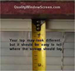 Measure Top of Solar Screens