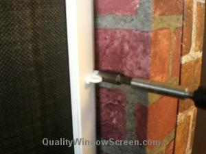 Install Solar Screens with Casement Turn Clips