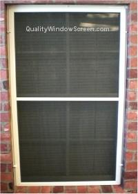Solar Screen Attached with Turn Clips