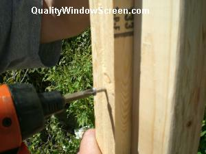 Screw Side Stop to Patio Screen Opening