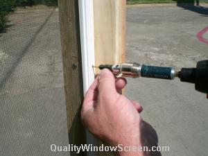 Drive Screw Through Porch Screen Panel Frames