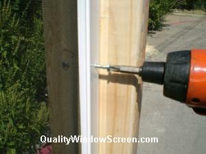 Drive Screw Through Patio Screen Panel Frames