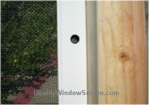 Screw Head Should be Hidden Inside the Porch Screen Frame