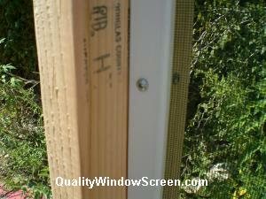 Patio/Porch Screen Panel Attached to Stop