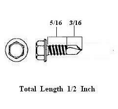 Self Tapping Metal Screws - 1/2 Inch