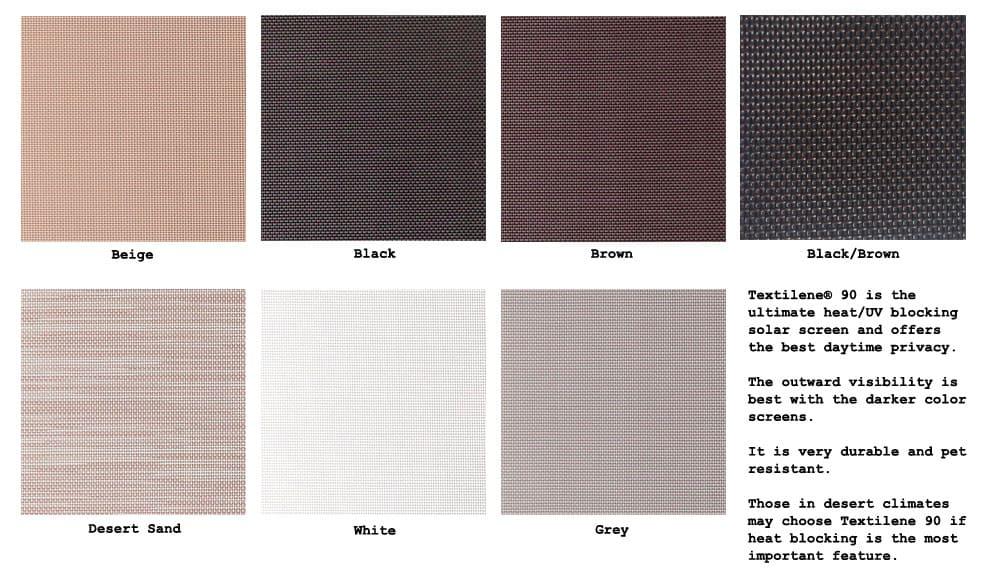 TextileneR 90 Solar Screen Fabric Per Linear Foot